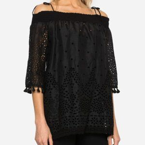 JOHNNY WAS Hailey Off The Shoulder Tunic Top
